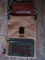 Bag#11 Handmade leather bag inside