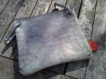 Bag#14 Handmade leather bag White wash