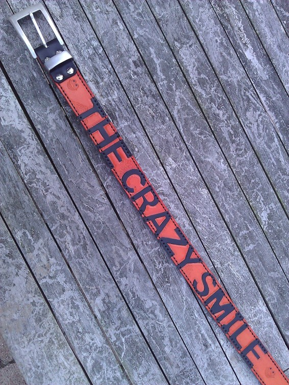 Belt#5 Handmade leather belt TheCrazySmile