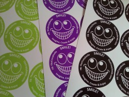 TheCrazySmile on a sticker