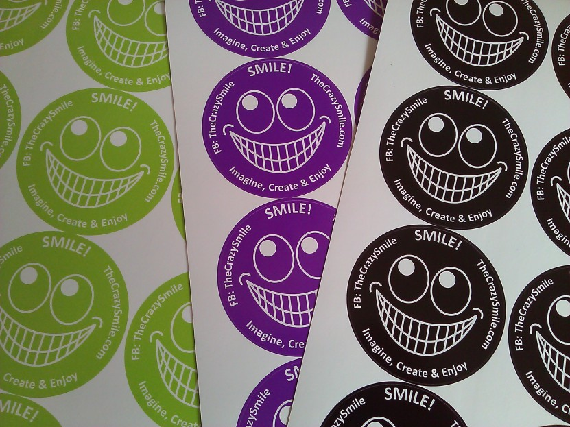 TheCrazySmile on a sticker