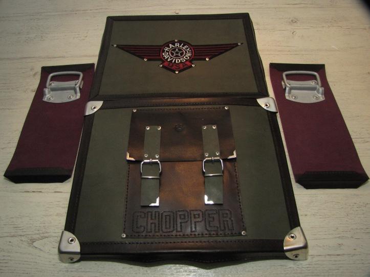 Leather Bag#4 fron, back & sides