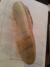 Mould with grinded inner sole attached