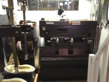 Press and sanding machine