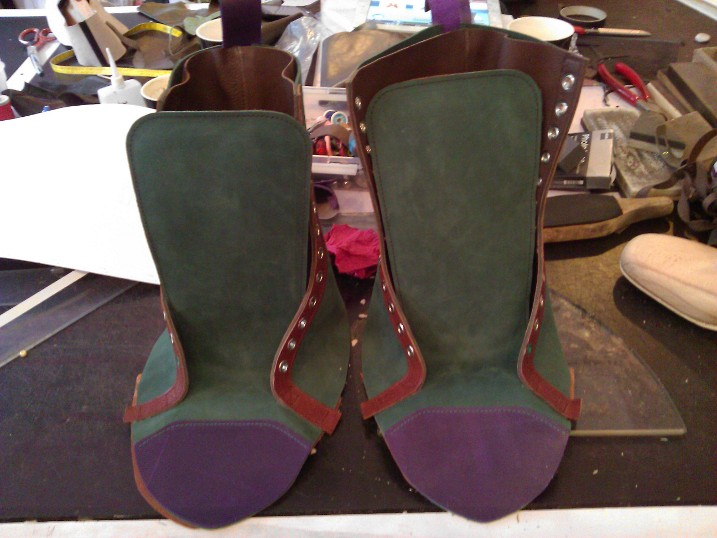 Shoes#1 Sides with front and back attached