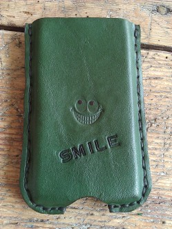Green Mobile phone pocket