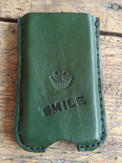 Green Mobile phone pocket