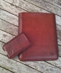 Leather iPad and iPhone cases