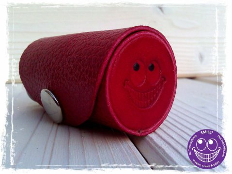 TheCrazyTube Leather case for small treasure