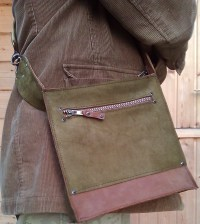 Handmade leather bag pic for size