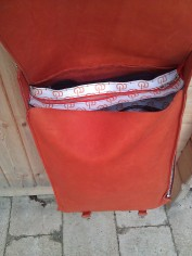 Handmade Leather Bag with Avanade Logo - inside