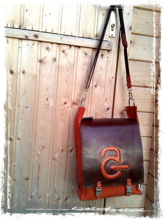 Handmade Leather Bag with Avanade Logo