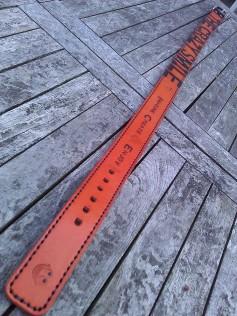 Belt#5 Handmade Leather belt detail