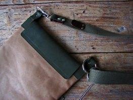 Handmade Leather Bag - Dude - Back