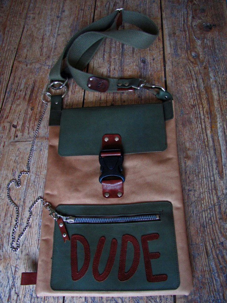 Handmade Leather Bag - Dude - Front