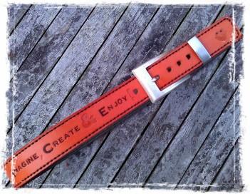 Handmade Leather Belt with TheCrazySmile