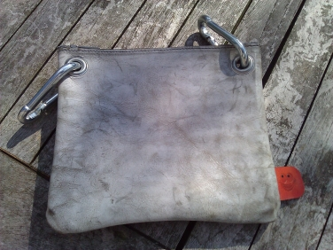 Handmade Leather Bag with eyelets