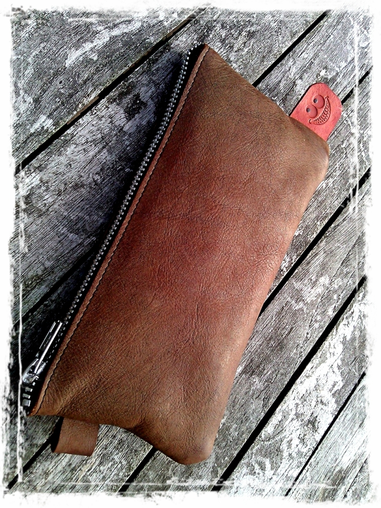 Handmade leather Etui - Pouch - Pocket