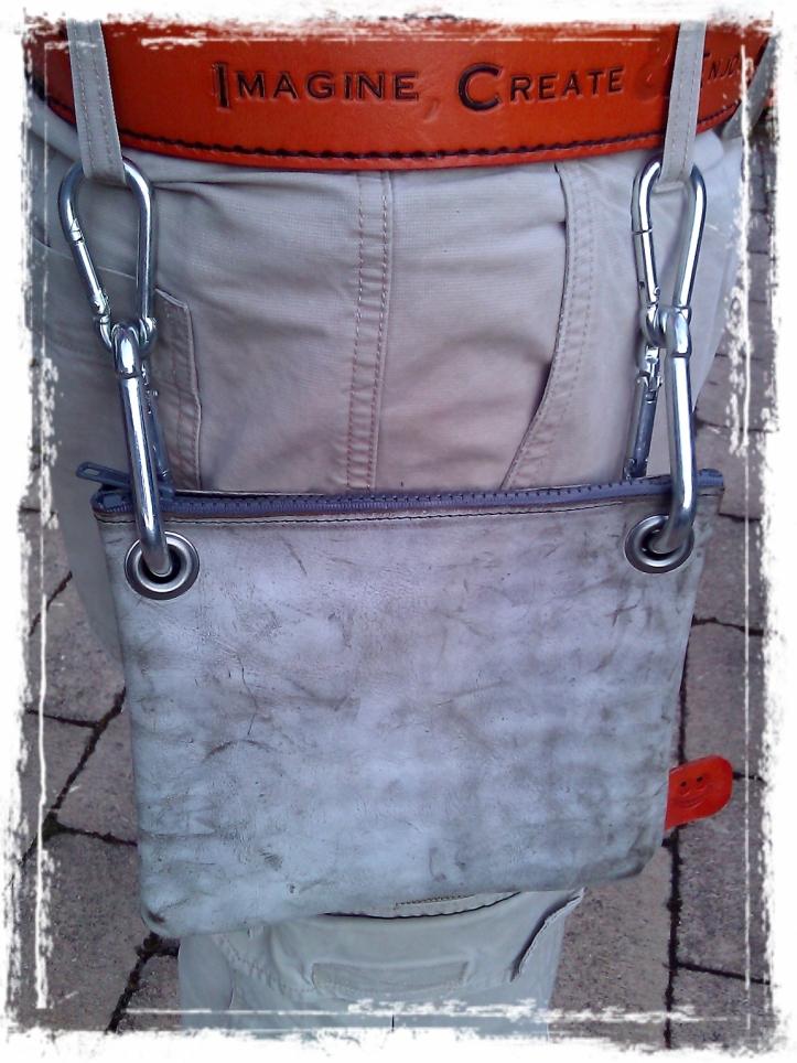 Strapless Leather Bag Handmade