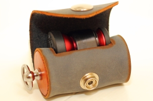 Handmade Leather lens case - Photo by EB Photography