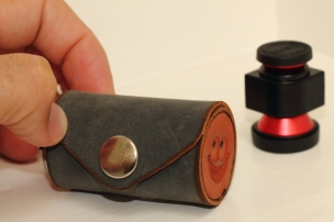 Handmade Leather Olloclip lens case - Photo by EB Photography