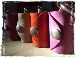Leather Olloclip lens case four in a row!