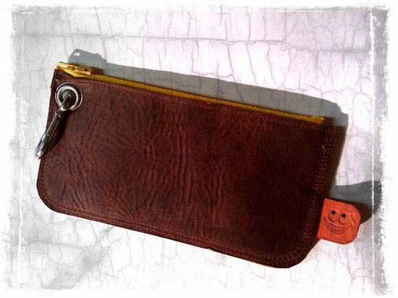 brown leather etui