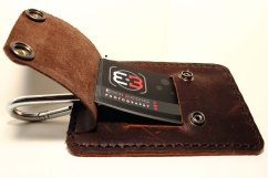 Leather Logo Business Card Holder back