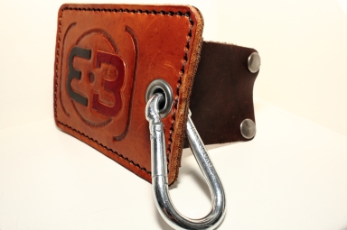 Leather Logo Business Card Holder side