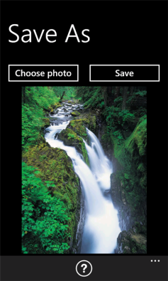Windows Phone App Save As screenshot1