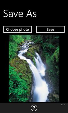 Windows Phone App Save As screenshot1