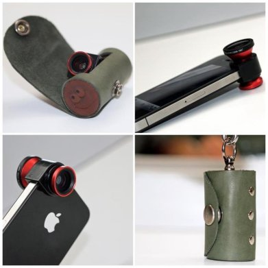 leather case for iphone lens