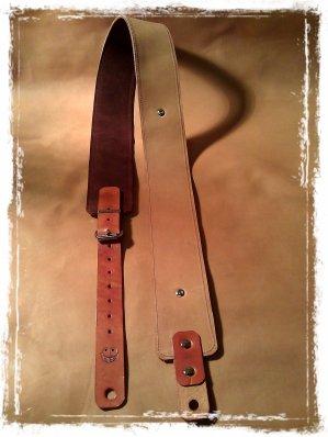 leather guitar strap thecrazysmile