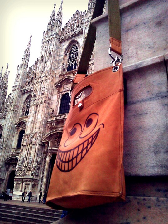 The plastic Leather Bag in Milan