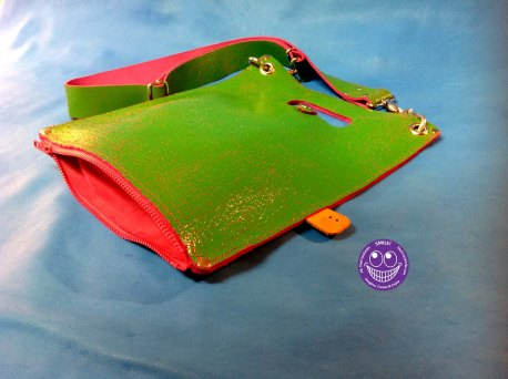 Leater Plastic Bag Disco zipper open