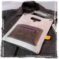 Leather Plastic Bag by TheCrazySmile