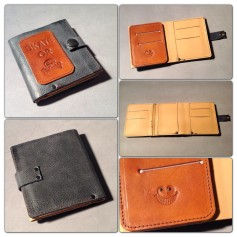 leather wallet all sides
