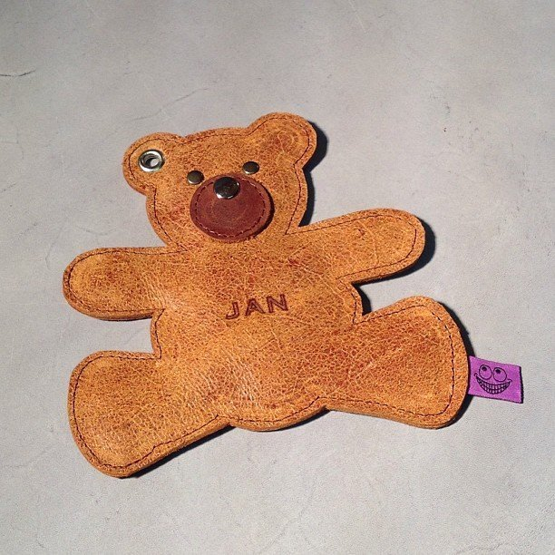 Brown leather bear