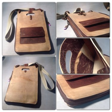 Leather laptop bag
