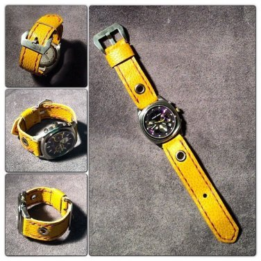 Yellow watch strap