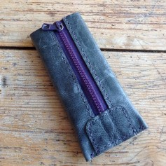 phone case with zipper