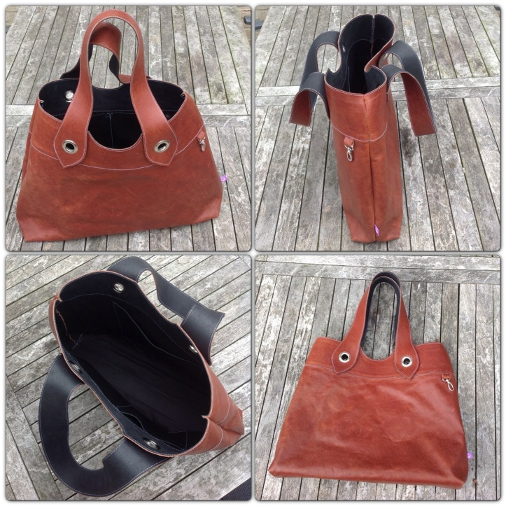 Brown Leather Bag from all sides