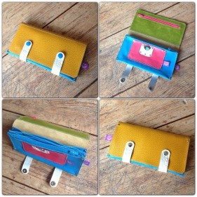 colorful leather wallet