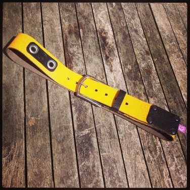 black and yellow belt