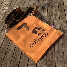 Handmade Leather Bag with Out of Area Logo
