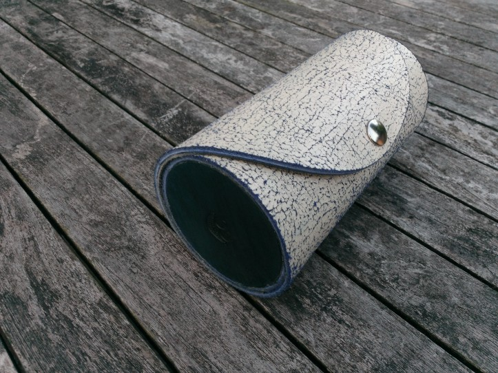 Leather lens case bottom