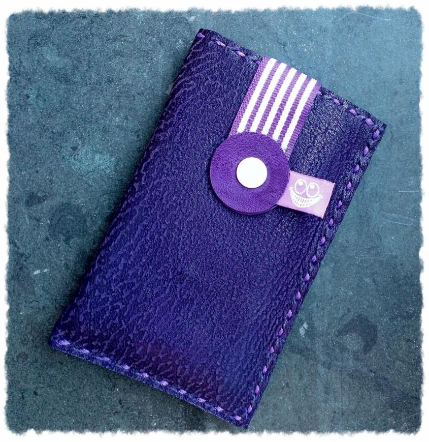 purple leather phone case