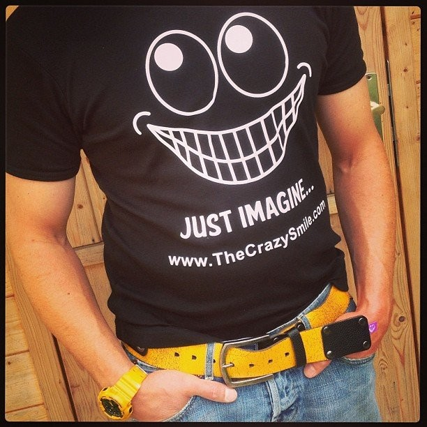 tshirt with a smile