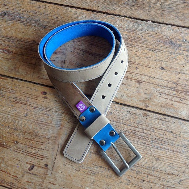 Handmade Leather Belt with a Smile