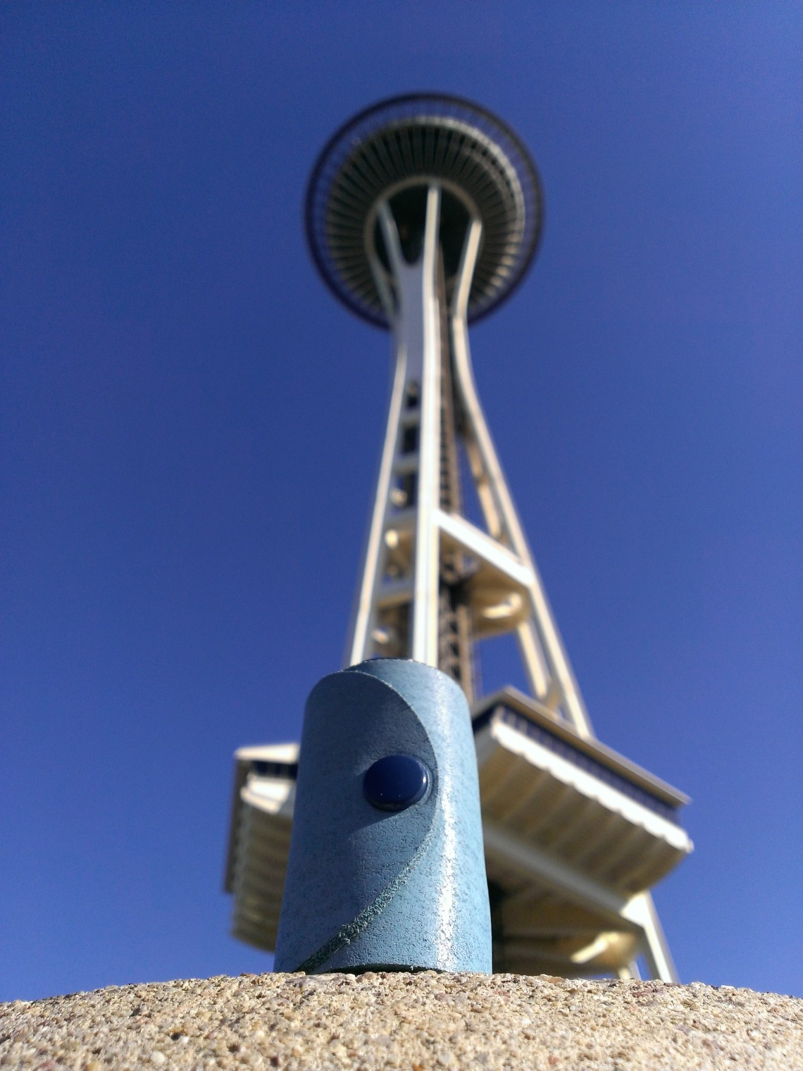 Space Needle and a blue version of TheCrazyTube